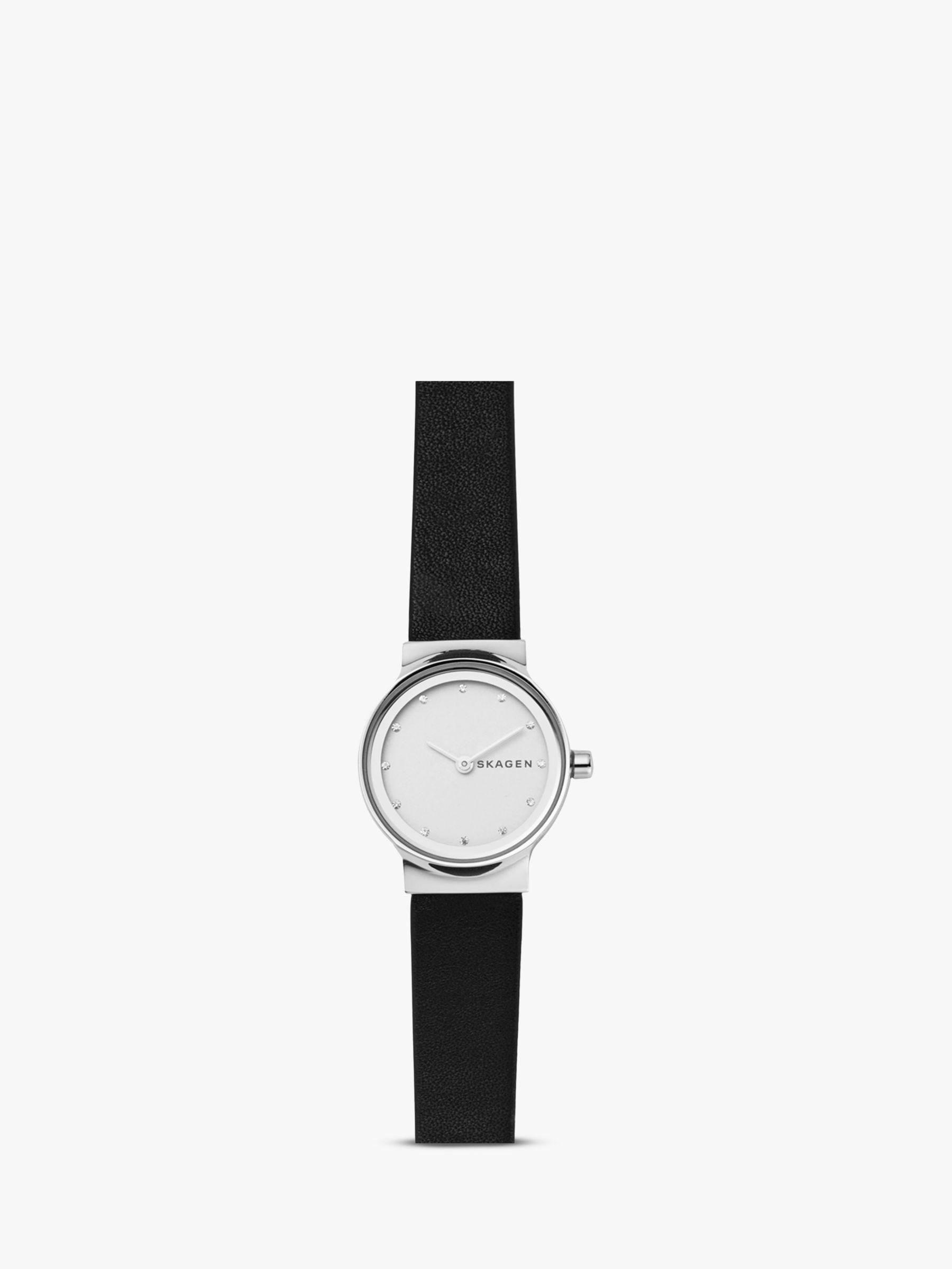 skagen Skagen Women's Freja Leather Strap Watch