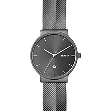 Buy Skagen SKW6432 Men's Ancher Bracelet Strap Watch, Grey Online at johnlewis.com