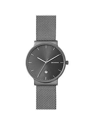 Skagen SKW6432 Men's Ancher Bracelet Strap Watch, Grey