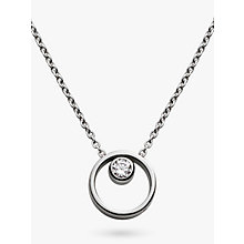 Buy Skagen Elin Crystal Circle Necklace Online at johnlewis.com