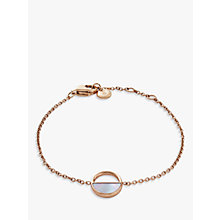 Buy Skagen Elin Circular Chain Bracelet, Rose Gold SKJ0999791 Online at johnlewis.com