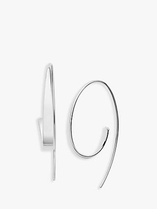 Skagen Kariana Curl Drop Earrings, Silver SKJ1077040