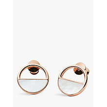 Buy Skagen Elin Circular Stud Earrings, Rose Gold SKJ0998791 Online at johnlewis.com