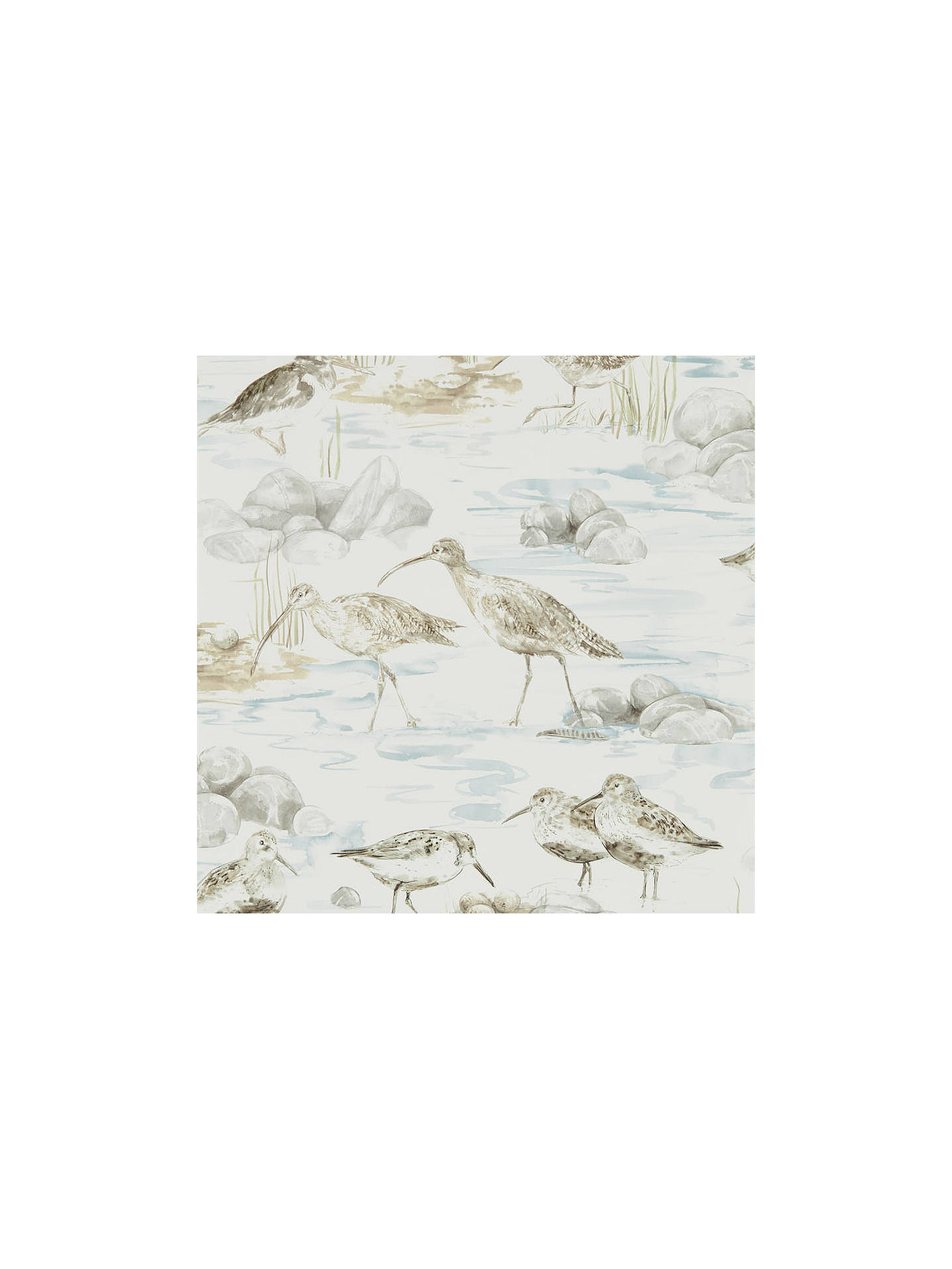 Buy Sanderson Estuary Birds Wallpaper, DEBB216492 Online at johnlewis.com