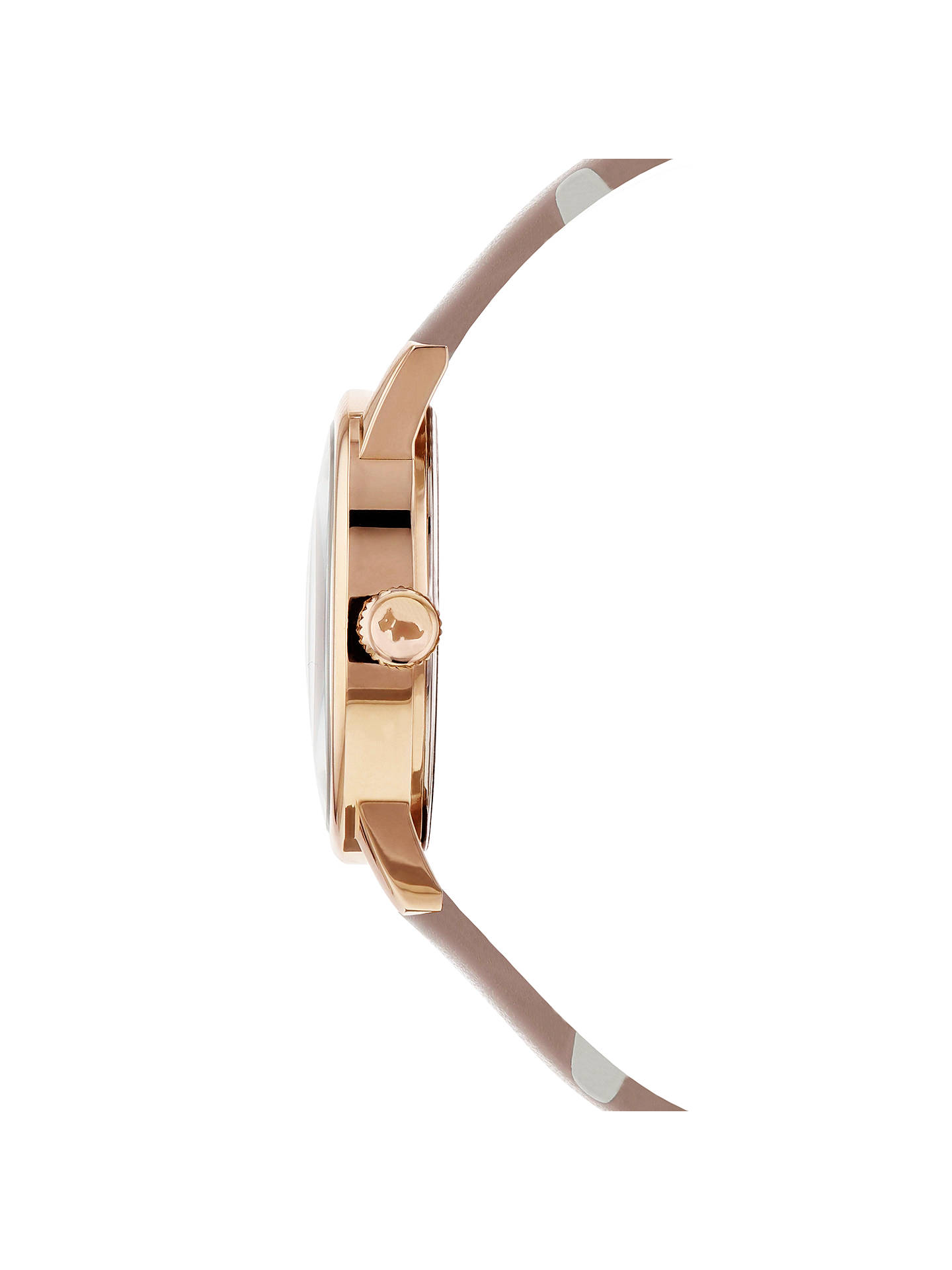 BuyRadley RY2568 Women's Vintage Dog Dot Leather Strap Watch, Blush Online at johnlewis.com