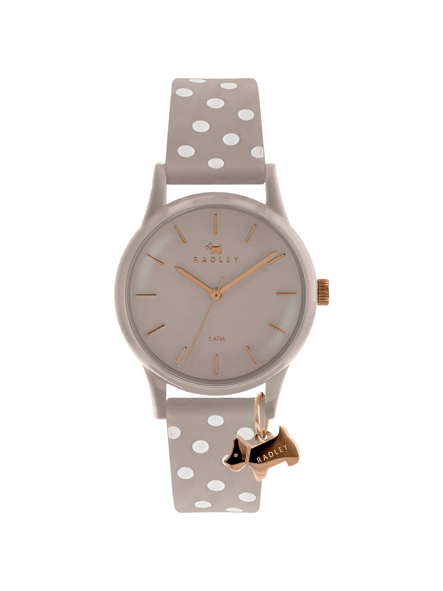 Buy Radley RY2642 Women's Watch It Spotted Leather Strap Watch, Cobweb Online at johnlewis.com