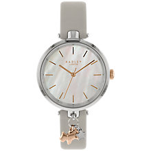 Buy Radley RY2653 Women's St Duncans Leather Strap Watch, Ash/Pearl Online at johnlewis.com