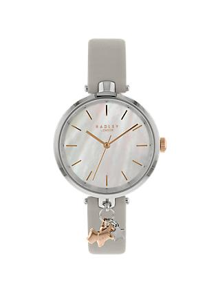 Radley RY2653 Women's St Duncans Leather Strap Watch, Ash/Pearl