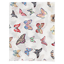 Buy Gerard Darel Thomsen Butterfly Scarf, White/ Multi Online at johnlewis.com