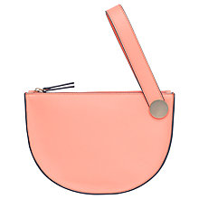 Buy French Connection Reena Wrist Bag, Coral Sands/Gold Online at johnlewis.com