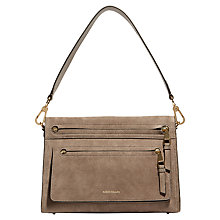Buy Karen Millen Double Zip Bag, Grey Online at johnlewis.com
