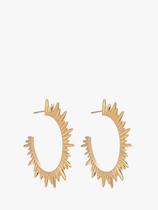 Rachel Jackson London Sunray Hoop Earrings