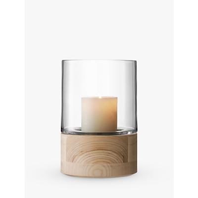 LSA International Lotta Lantern & Ash Base Candle Holder, H22.5cm