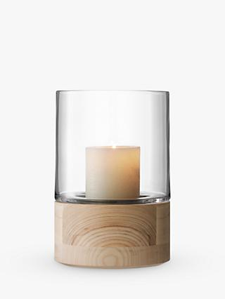 LSA International Lotta Lantern & Ash Base Candle Holder, H22.5cm