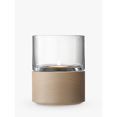 LSA International Lotta Lantern & Ash Base Candle Holder, H13cm