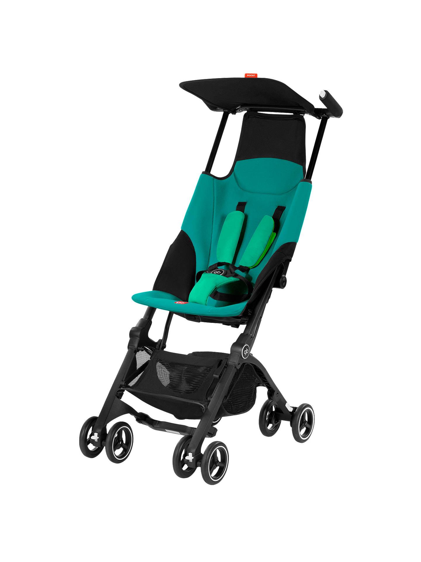 GB Pockit Stroller, Laguna Blue at John Lewis & Partners