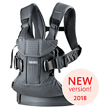 Buy BabyBjörn One Air Baby Carrier 2018, Anthracite Online at johnlewis.com
