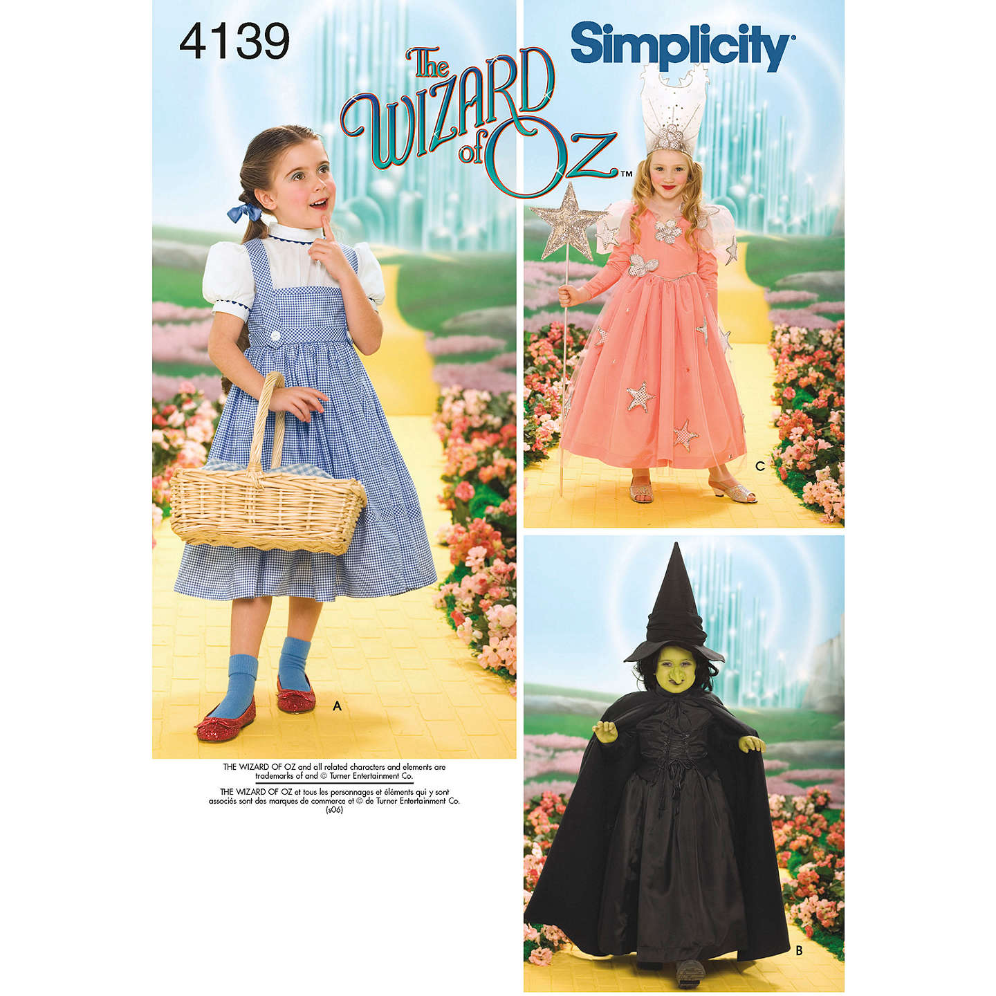 BuySimplicity Childrenu0027s Wizard of Oz Characters Costumes Sewing Pattern 4139 Online at johnlewis. ...  sc 1 st  John Lewis & Simplicity Childrenu0027s Wizard of Oz Characters Costumes Sewing ...