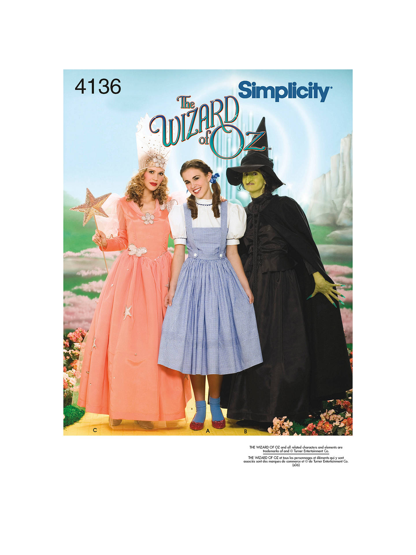 df43108264544 Simplicity Women s Wizard of Oz Characters Costumes Sewing Pattern ...