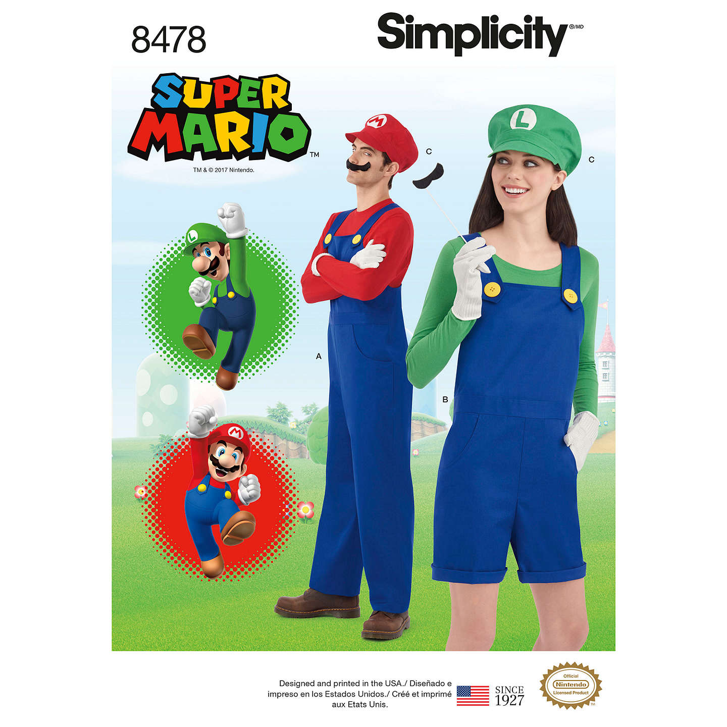 BuySimplicity Costume Super Mario and Luigi Sewing Pattern 8478 Online at johnlewis.com ...  sc 1 st  John Lewis & Simplicity Costume Super Mario and Luigi Sewing Pattern 8478 at ...