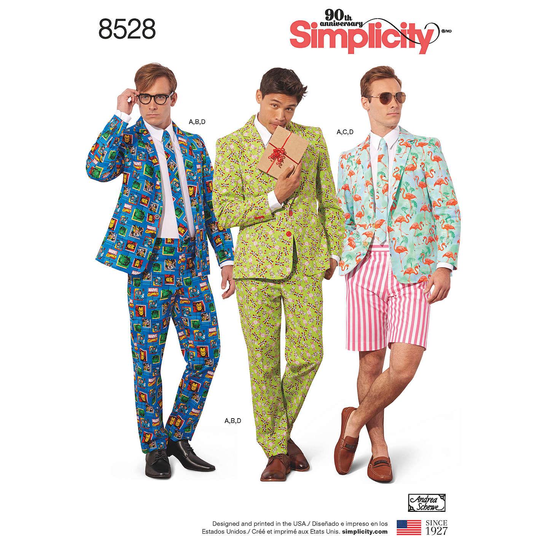 Simplicity Men\'s Costume Suit Sewing Pattern, 8528 at John Lewis