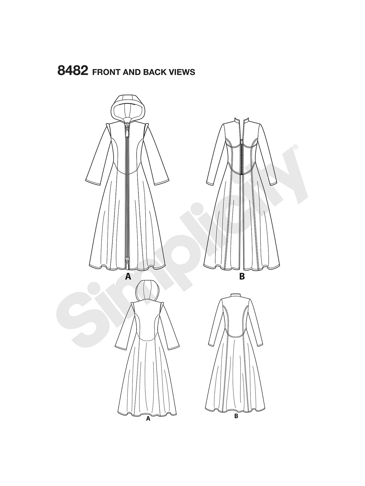 Simplicity Women\'s Cosplay Coats Sewing Pattern, 8482 at John Lewis ...