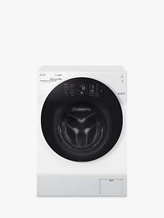LG FH4G1BCS2 Freestanding Washing Machine, 12kg Load, 1400rpm Spin, White