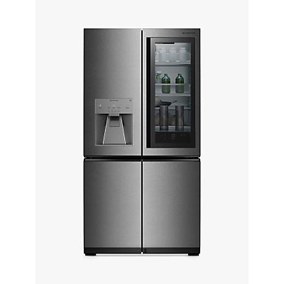 LG LSR100 American Style Non-Plumbed Freestanding Fridge Freezer, A++ Energy Rating, 91cm Wide, Noble Steel Review thumbnail