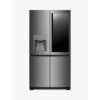 LG LSR100 American Style Plumbed Freestanding Fridge Freezer, A++ Energy Rating, 91cm Wide, Noble Steel