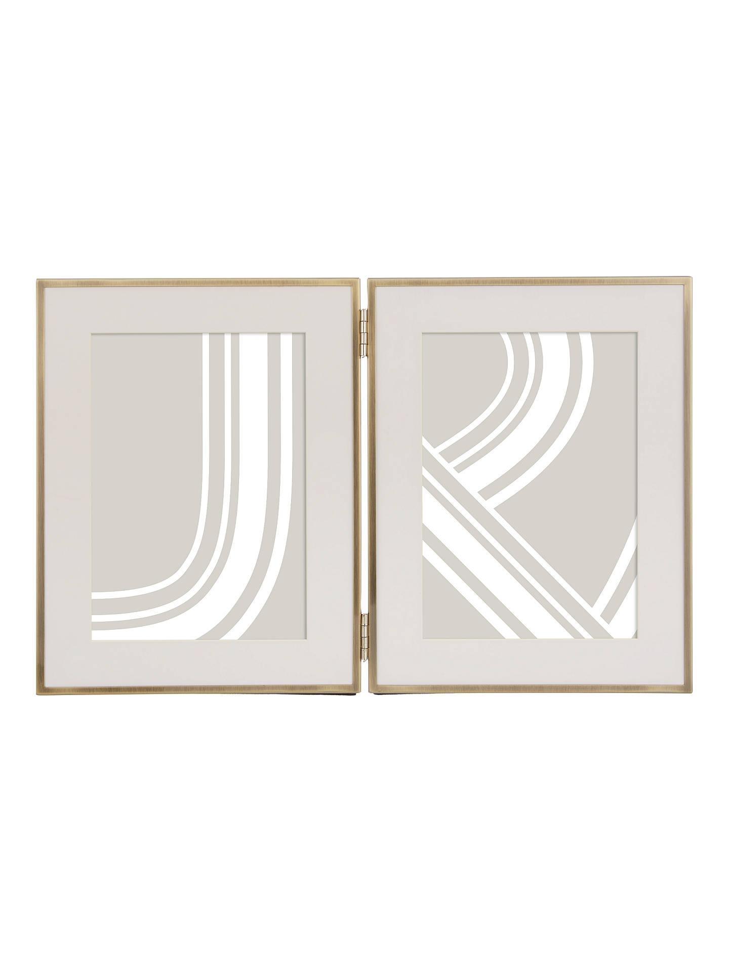 "John Lewis & Partners Daya Double Photo Frame & Mount, 5 X 7"" (13 X 18cm), Brushed Brass by John Lewis & Partners"