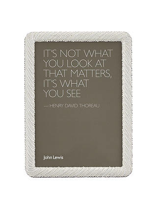 Buy John Lewis & Partners Diana Photo Frame, 5 x 7 (13 x 18cm), Silver Online at johnlewis.com