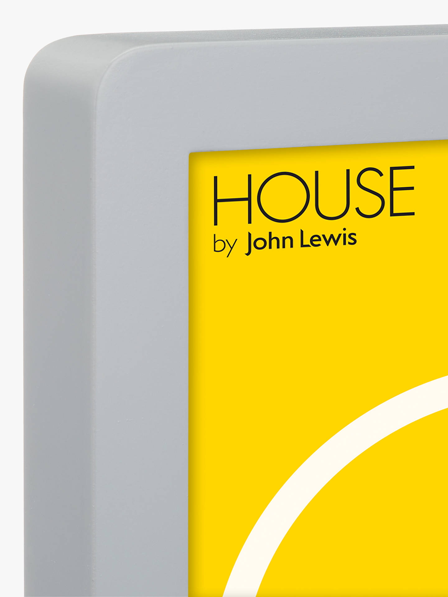 "Buy House by John Lewis Round Corner Photo Frame, 4 x 6"" (10 x 15cm), Dark Grey Online at johnlewis.com"