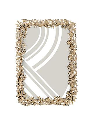 John Lewis & Partners Laura Leaves Photo Frame, Gold