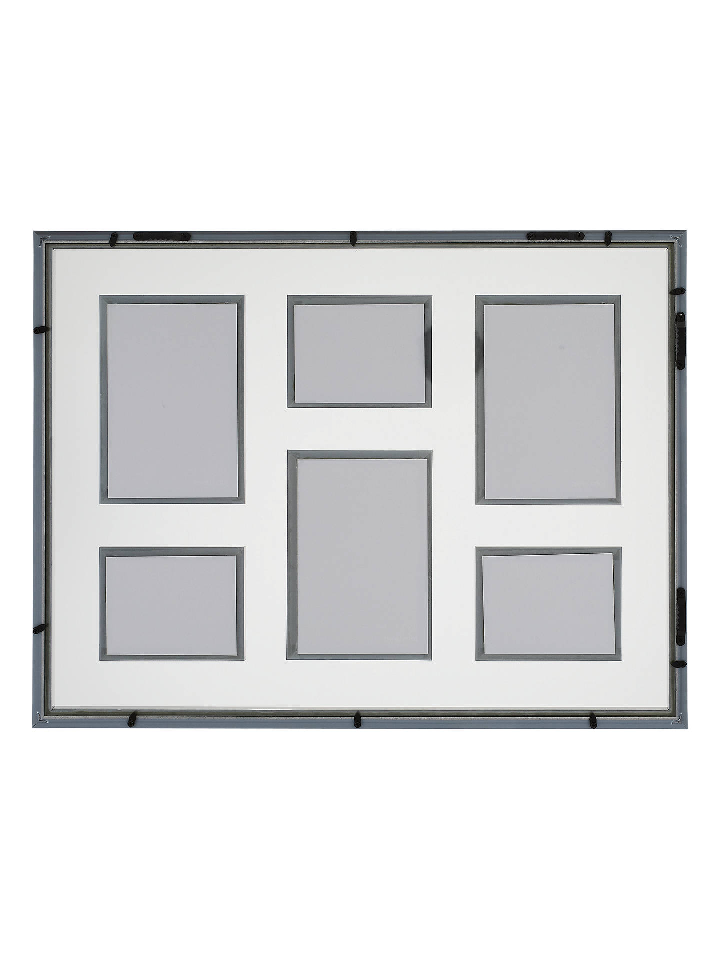 BuyJohn Lewis & Partners Clover Multi-aperture Floating Photo Frame, 6 Photo, Silver Online at johnlewis.com