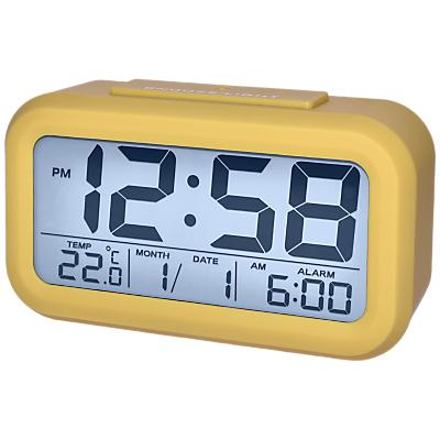Image of Acctim Silo Silicone Smartlite® LCD Alarm Clock, Mustard
