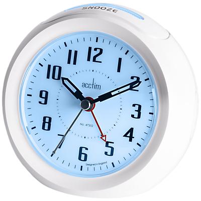 Acctim Minos Smart USB Alarm Clock, White