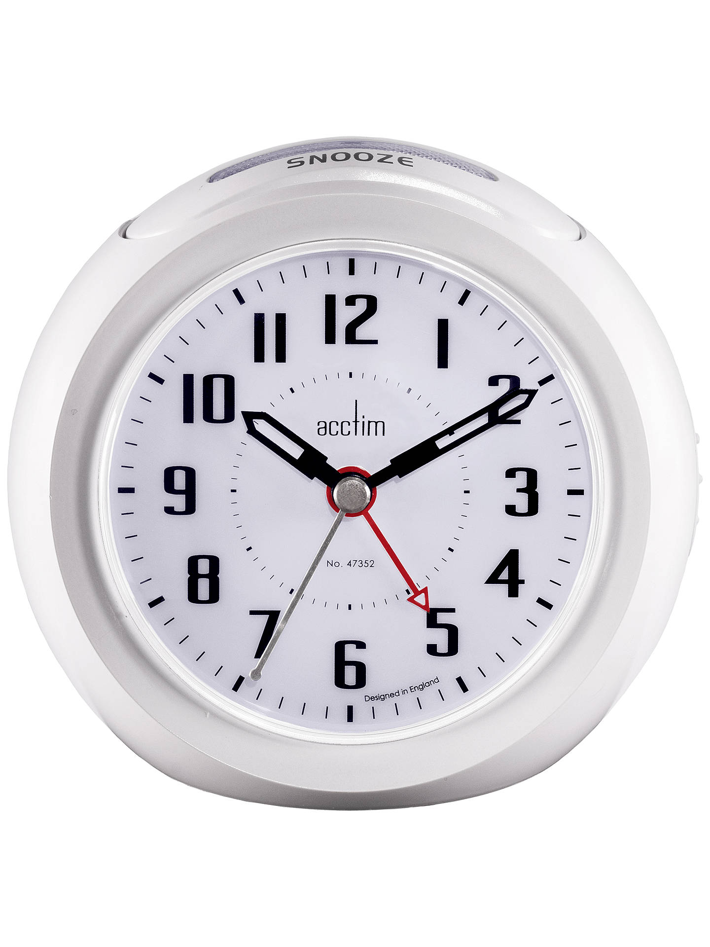 Buy Acctim Minos Smart Connector® USB Alarm Clock, White Online at johnlewis.com