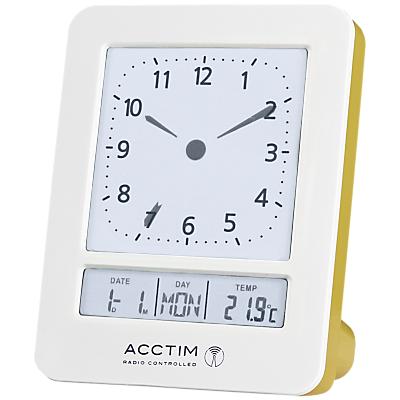 Acctim Fontana Radio Controlled Digital Dual Alarm Clock, White