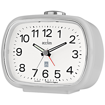 Image of Acctim Camille Alarm Clock, Soft Grey