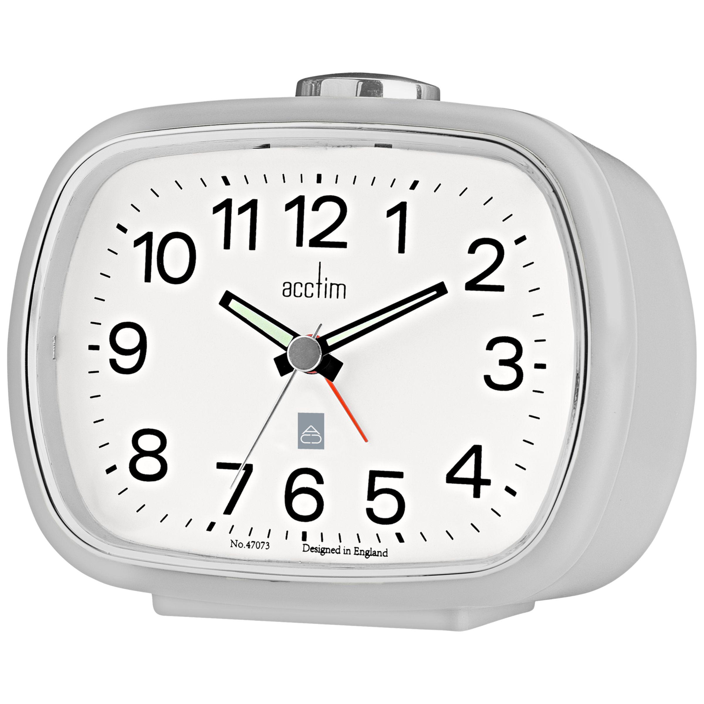Acctim Camille Analogue Alarm Clock, Soft Grey