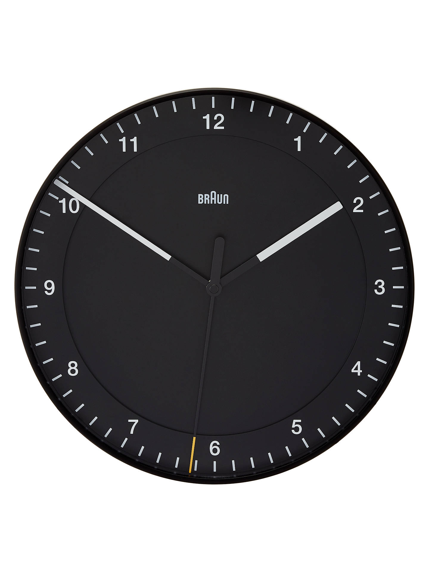 Buy Braun Round Wall Clock, 33.5cm, Black Online at johnlewis.com
