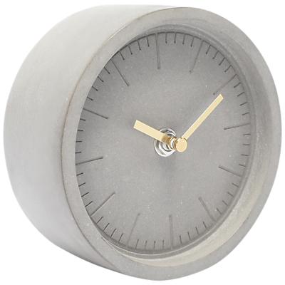 Image of London Clock Company Cement Finish Mantel Clock, Dia.13cm, Grey