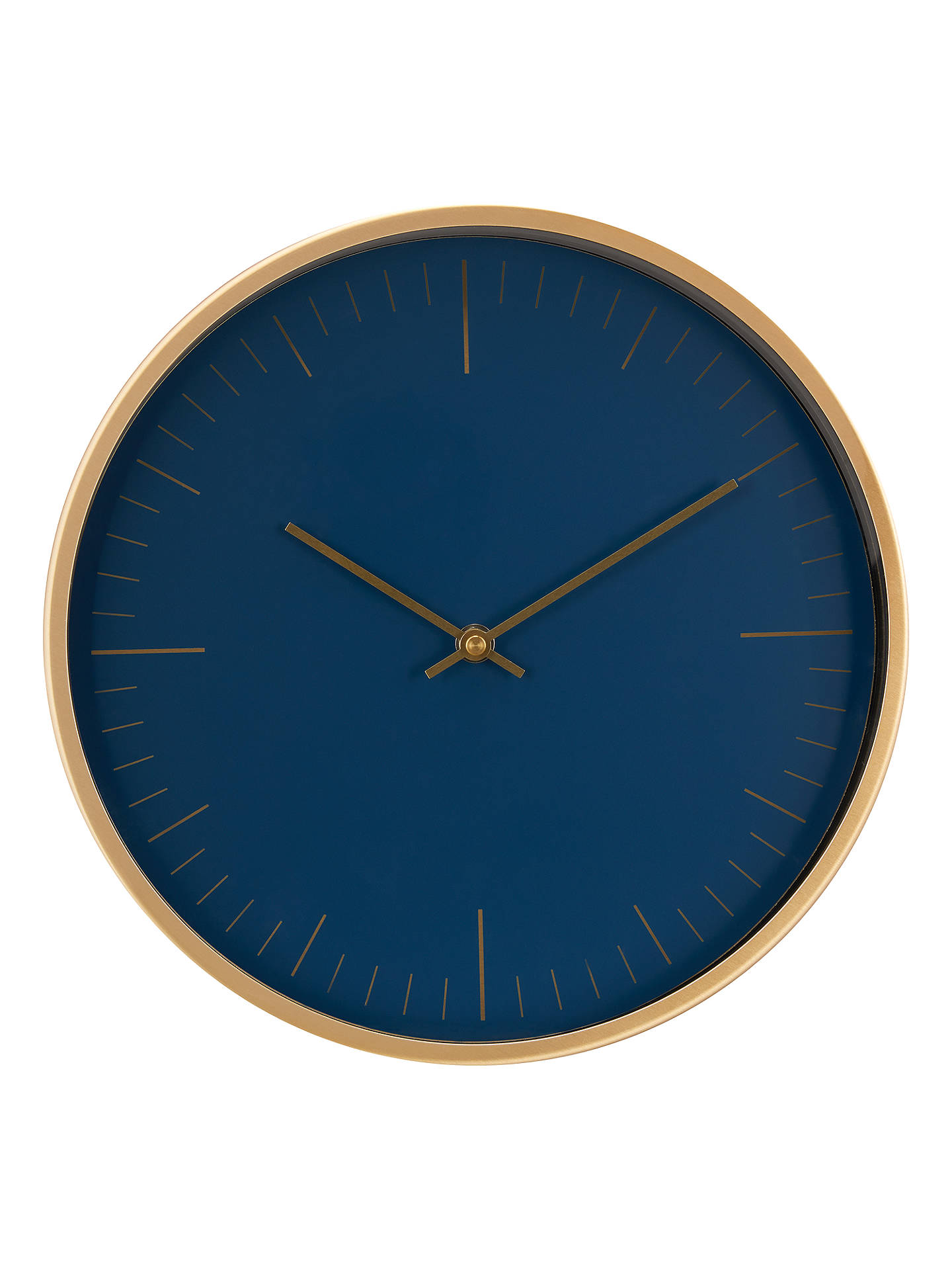 Navy and Gold Clock