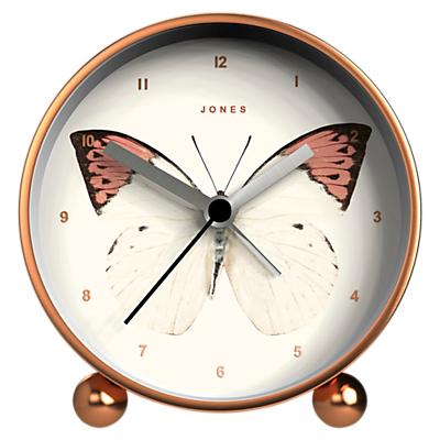 Jones Butterfly Mantel Clock, Rose Gold, 11.5cm