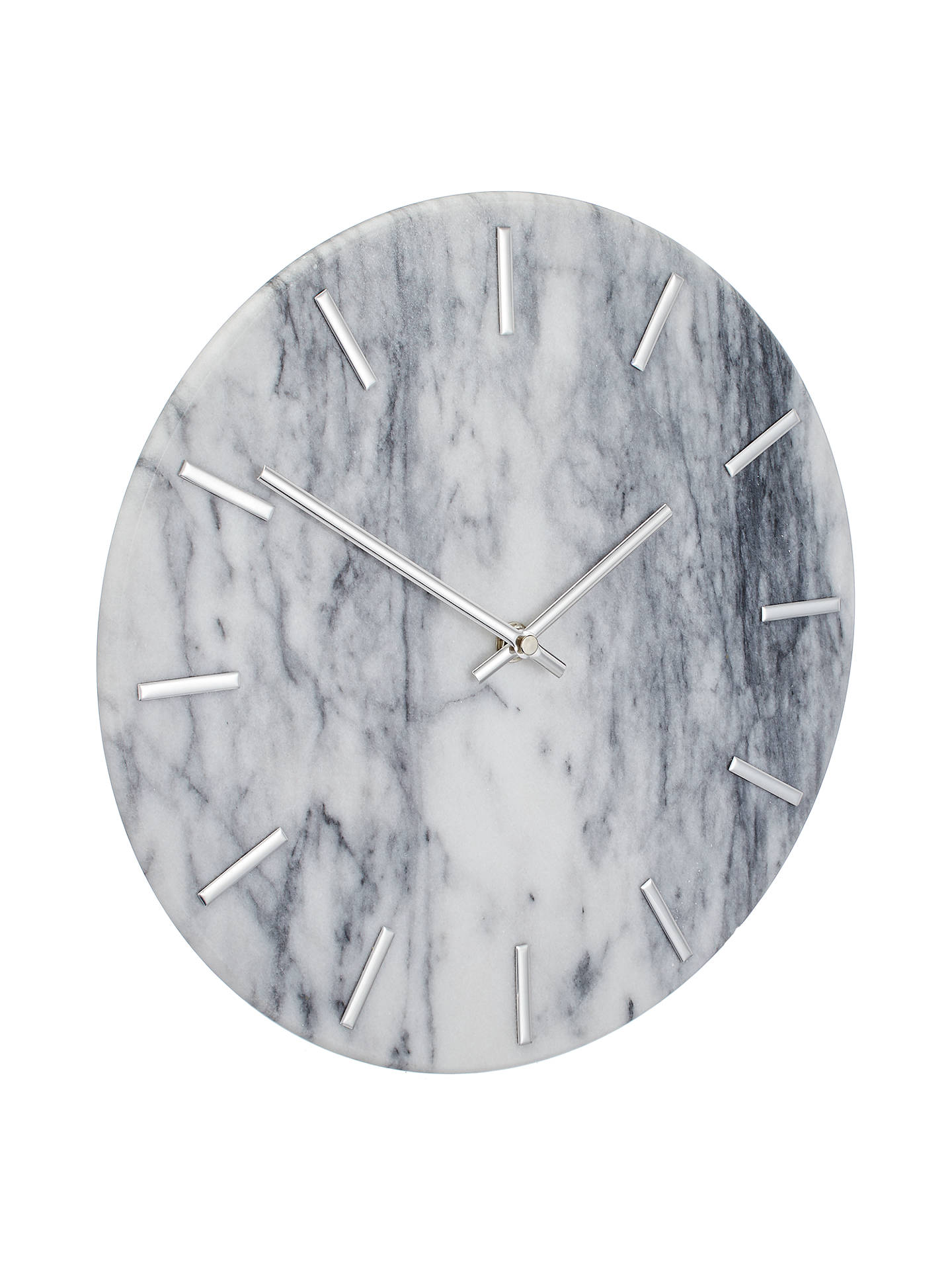 BuyJohn Lewis & Partners Marta Marble Wall Clock, 30cm, White Online at johnlewis.com
