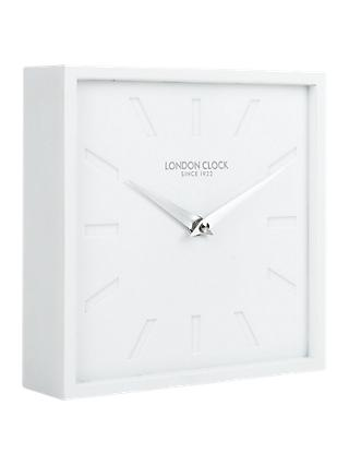 London Clock Company Block Mantel Clock, White