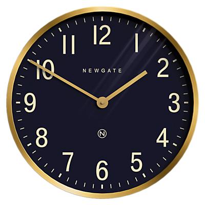 Newgate Mr Edwards Wall Clock, Dia.45cm, Black/Brass