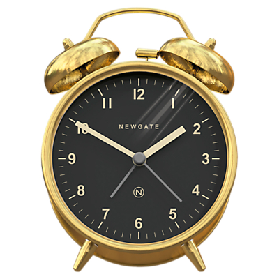 Newgate Charlie Bell Alarm Clock, Metallic