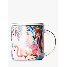 Buy T2 Birds Of A Feather Infuser Mug With Lid, Rose, 350ml Online at johnlewis.com