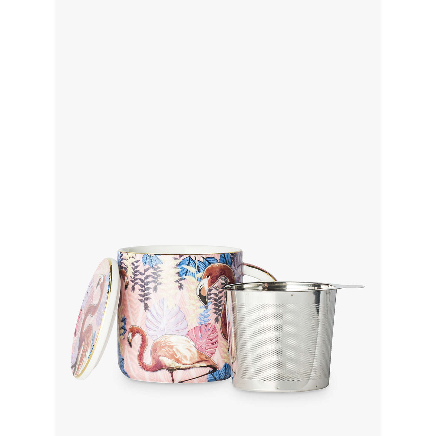 BuyT2 Birds Of A Feather Infuser Mug With Lid, Rose, 350ml Online at johnlewis.com